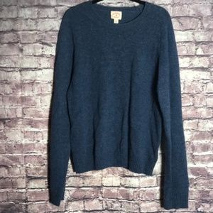 Brooks Brothers Red Fleece blue wool sweater XL